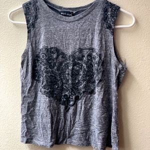 Lace Detailed Muscle Tee